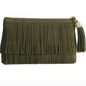 India Hicks Dougal Clutch - Army - NWT